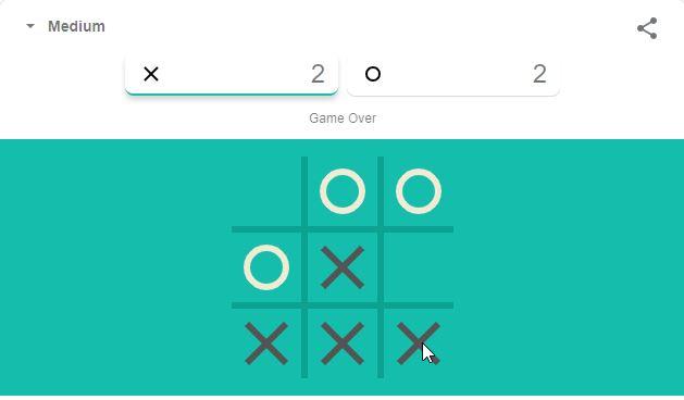 Game Tic Tac Toe Google Menang