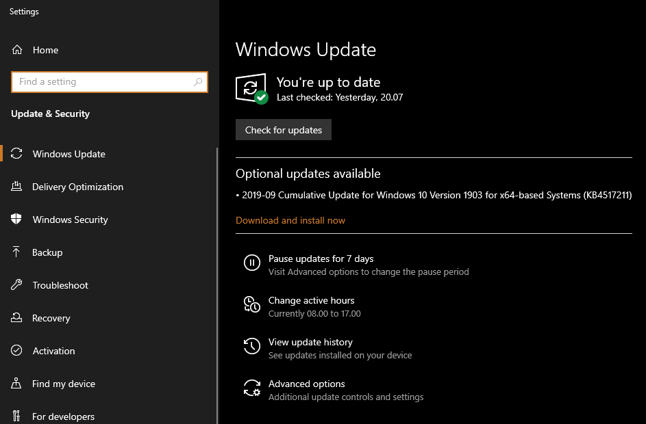 Windows 10 Windows Update