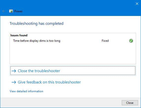 Selesai Mencari Masalah Power Troubleshooter Windows 10