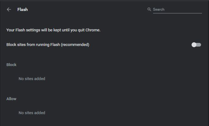 Mematikan Flash Di Google Chrome