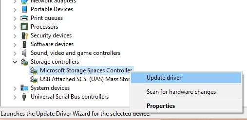 Update Driver Storage Controller Windows