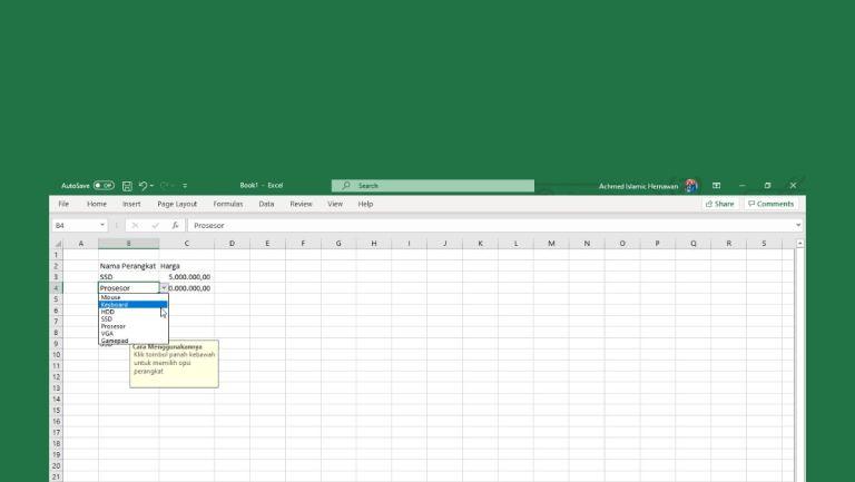 Cara Membuat Dropdown Di Excel Header