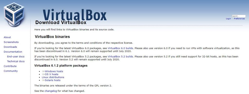 Download Virtualbox 6 1 2