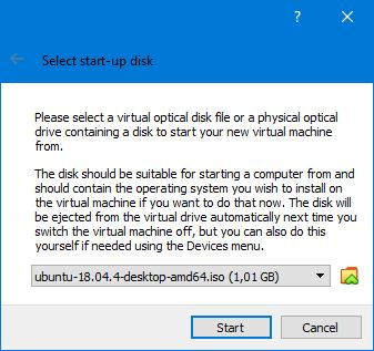 Memilih Ubuntu 18 04 4 Virtualbox