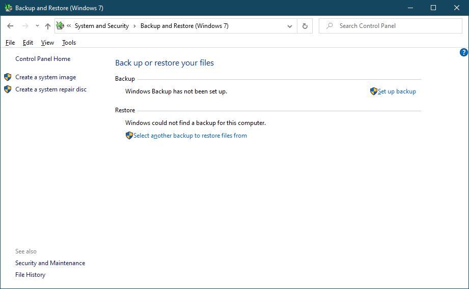 Backup And Restore Windows