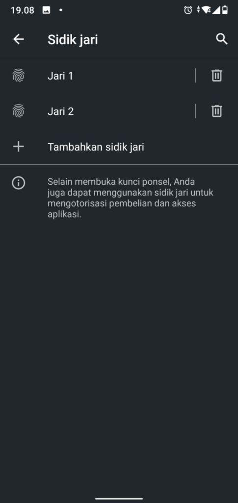 Daftar Sidik Jari Android