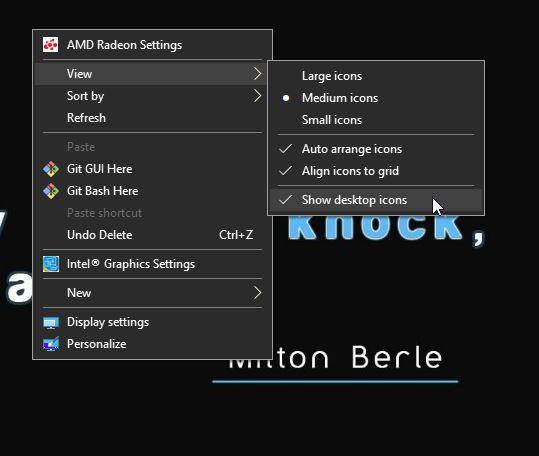 Klik Kanan Desktop Show Desktop Icon Windows