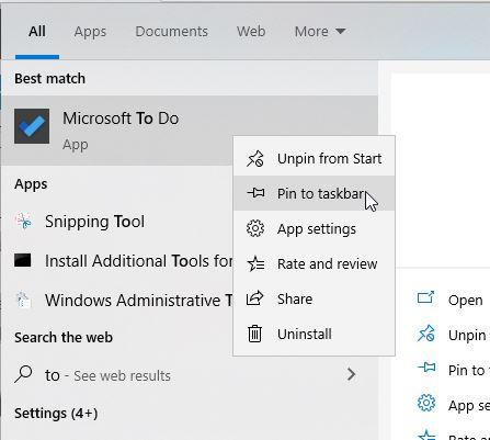 Pin Aplikasi Ke Taskbar Windows