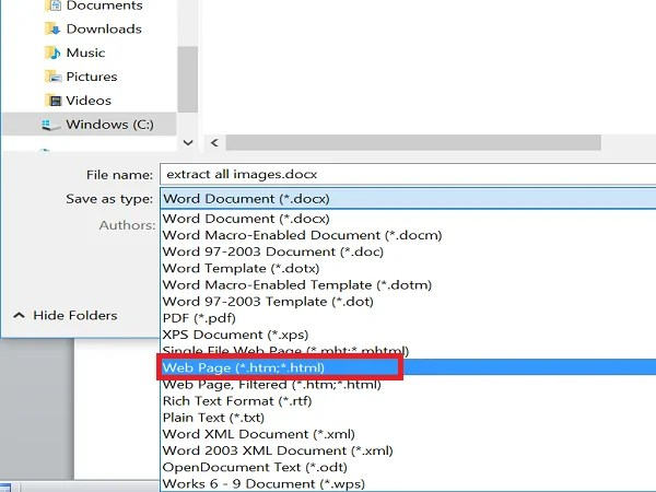 download Images from Word Document