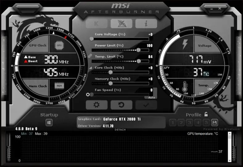 MSI Afterburner overclocking software
