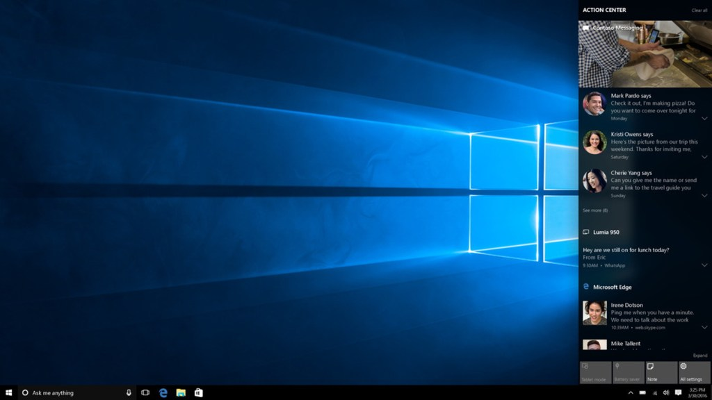 Action Center Windows 10