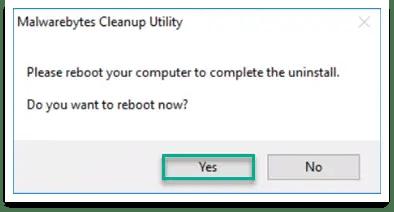 Malwarebytes uninstaller