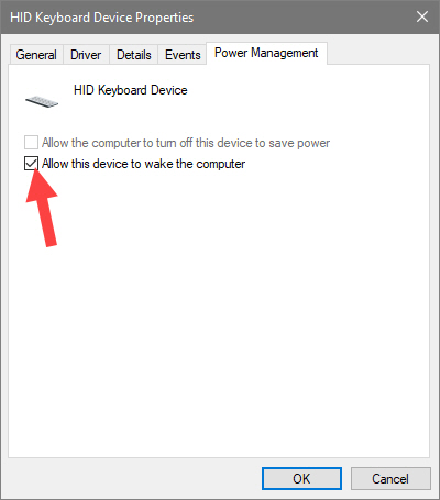 Select checkbox in keyboard hardware management