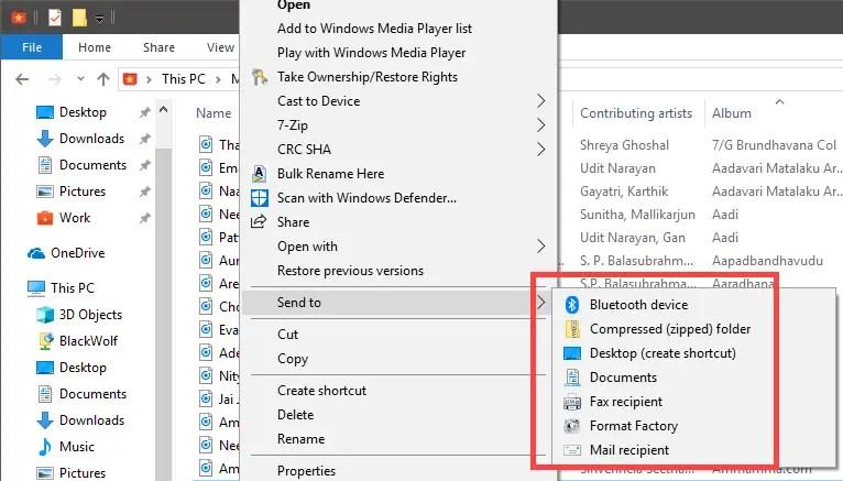 Add folders to send to menu - send to menu