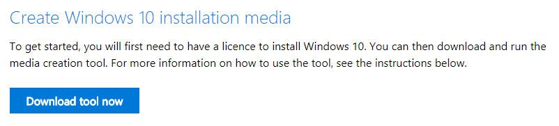 Download windows 10 iso - click download tool now button
