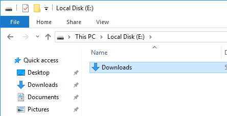 You've successfully moved Downloads folder to another drive in Windows 10