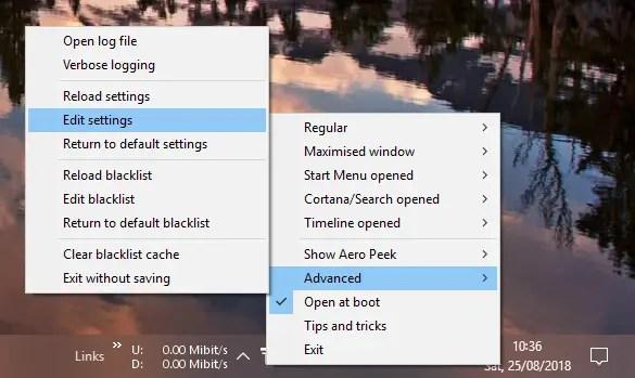 Translucenttb settings