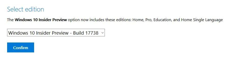Download build 17738 select version