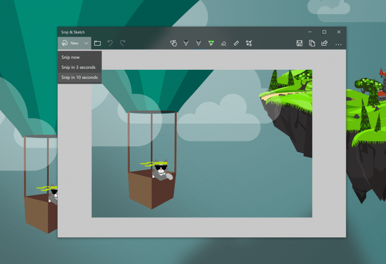 Snip and sketch build 18234