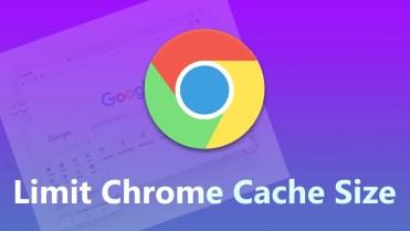 Limit chrome cache size