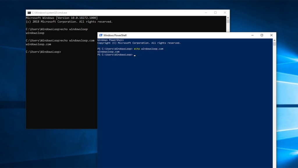 Windows command prompt powershell