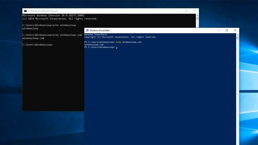 Windows command prompt powershell