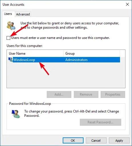 Windows 10 auto login 02