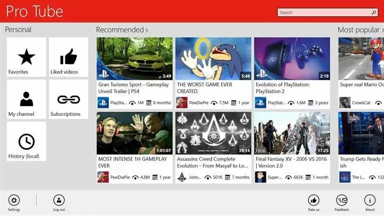 Youtube app for windows 10 - 03 pro tube