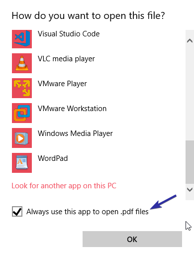 Change default pdf viewer on windows 10 image 03