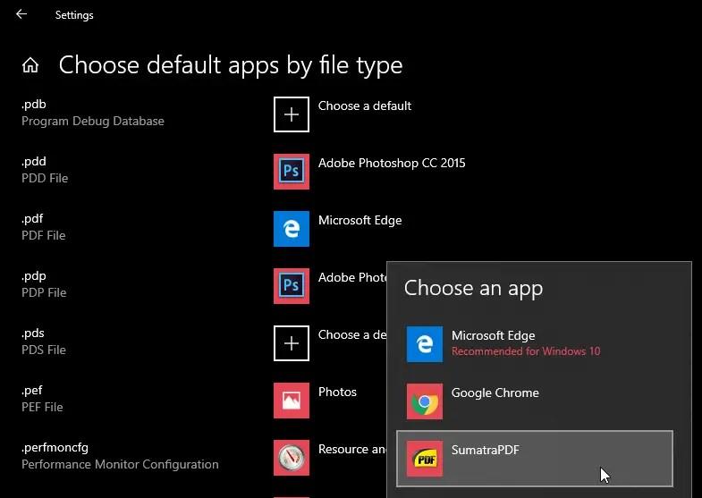 Change default pdf viewer on windows 10 image 07