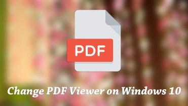 Change default pdf viewer on windows 10