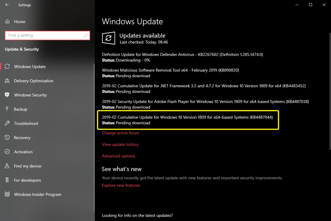 Kb4487044 update downloading