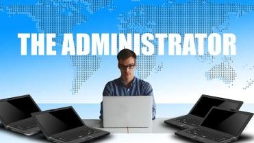 Administrator managing computers