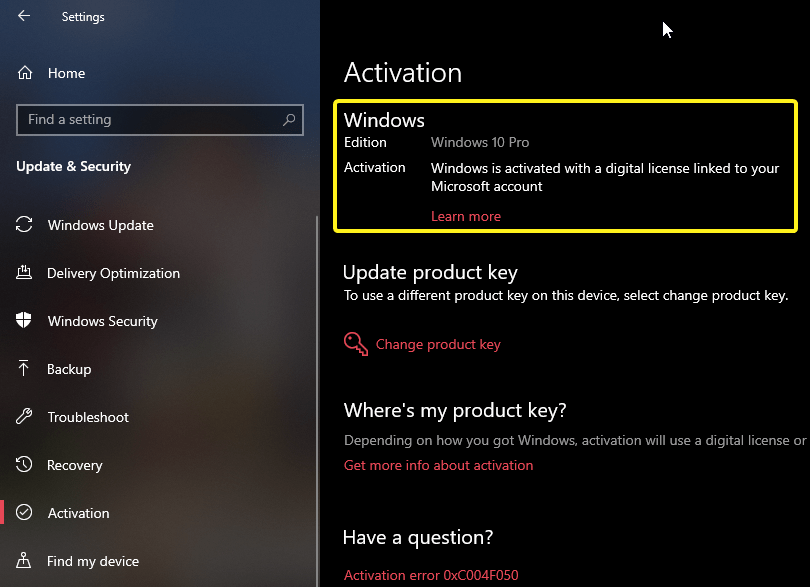 Check if windows is activated 2