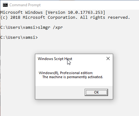 Check if windows is activated 3