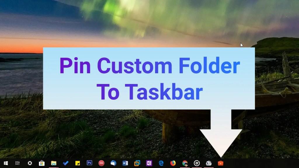 Folder with custom icon pinned to taskbar
