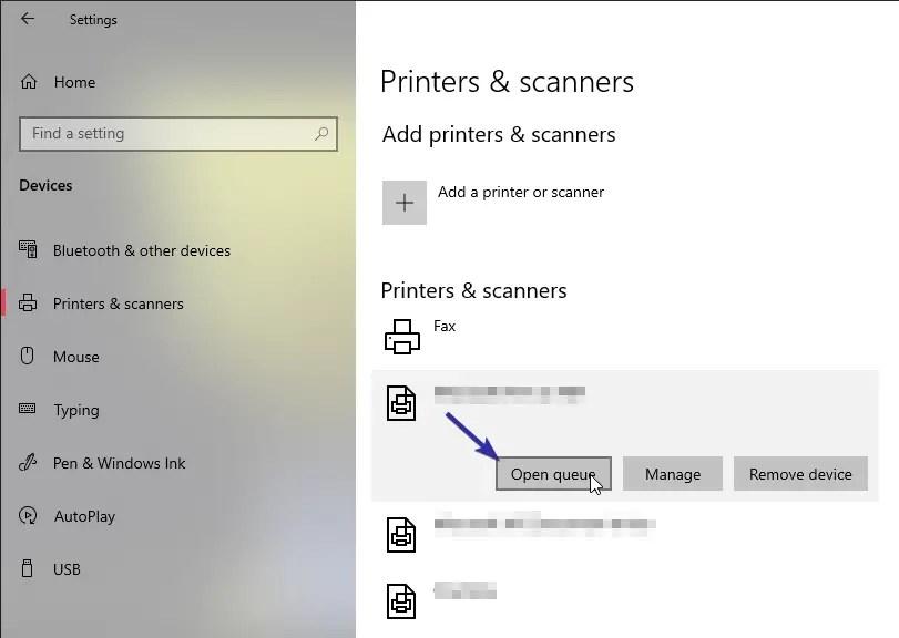 Windows 10 clear print queue 01