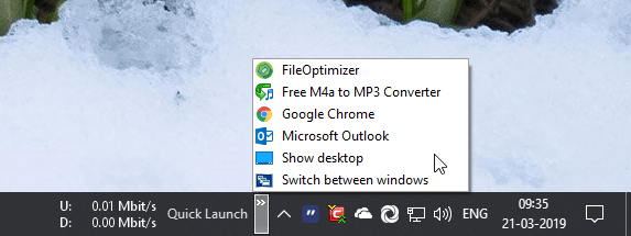 Add quick launch toolbar 05