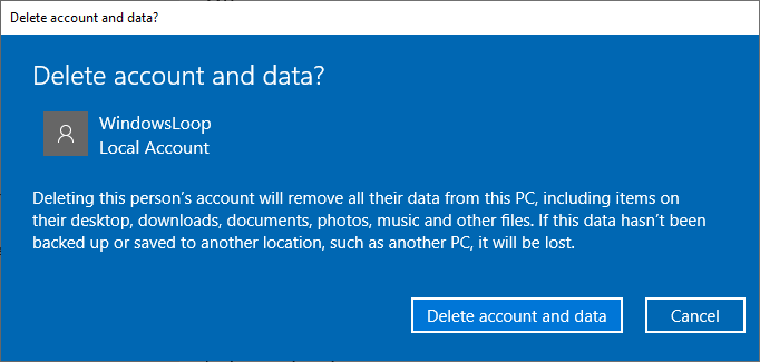 Delete user account windows 10 04