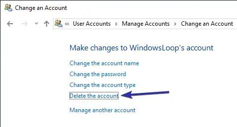 Delete user account windows 10 08
