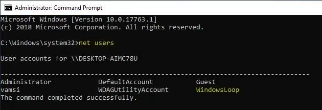 Delete user account windows 10 15