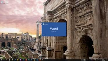 Microsoft word start screen