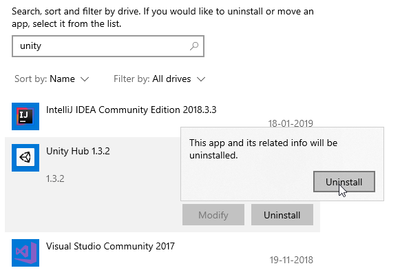How to Completely Uninstall Unity and Unity Hub in Windows 10