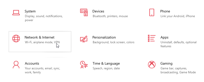 Windows 10 change network location type 01