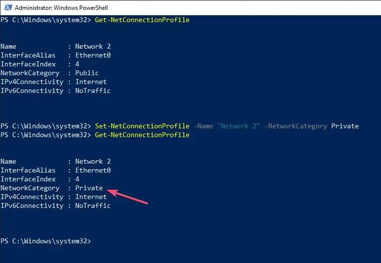 Windows 10 change network location type 06