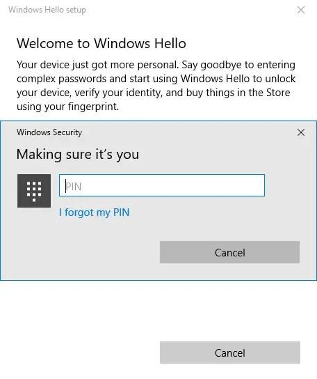 03 add fingerprint in windows 10