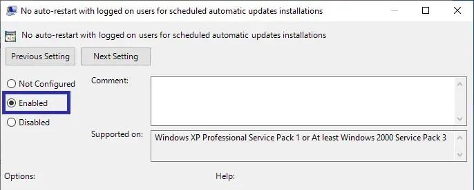 04 stop automatic windows 10 reboot