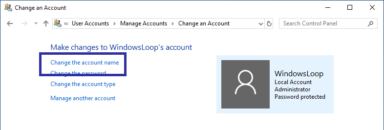 Rename windows user account 04