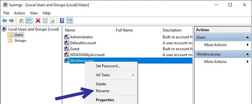 Rename windows user account 09