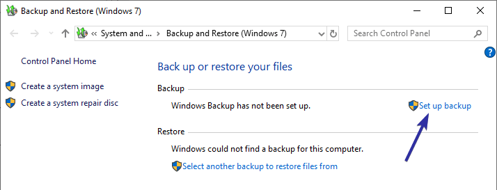 Windows 10 backup to network drive 02